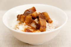 Braised Pork Rice Royalty Free Stock Images