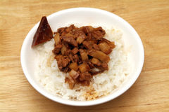 Braised pork rice Stock Photos
