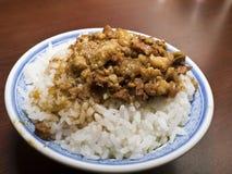 Braised pork rice Stock Image