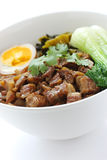 Braised pork rice , taiwanese cuisine Royalty Free Stock Photos