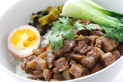Braised pork rice , taiwanese cuisine Stock Photography