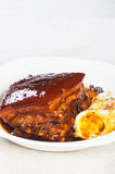 Braised pork in a sweet soy sauce Royalty Free Stock Photography
