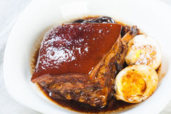 Braised pork in a sweet soy sauce Royalty Free Stock Images