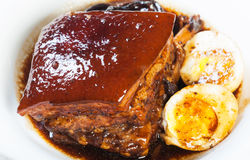 Braised pork in a sweet soy sauce Royalty Free Stock Photo