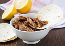 Braised pork,  tender and falling apart Royalty Free Stock Photos