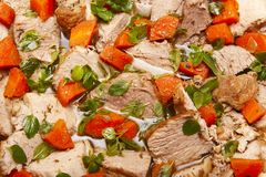 Braised pork with vegetables Royalty Free Stock Images