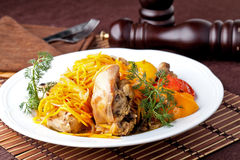 Braised rabbit Royalty Free Stock Images