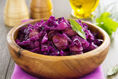 Braised red cabbage Stock Photography