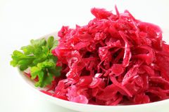 Braised red cabbage Stock Images