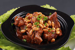 Braised trotters soybeans Stock Photography
