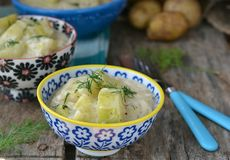Braised zucchini Royalty Free Stock Image