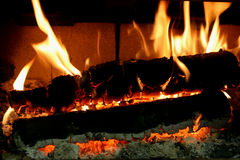 Braises brûlantes Images stock