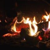 Braises brûlantes Image libre de droits