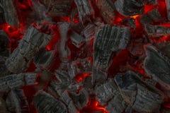 Braises rouges images libres de droits