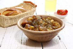 Braising meat with Italian herbs Royalty Free Stock Photography