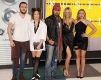 Braison Cyrus, Tish Cyrus, Noah Cyrus, Billy Ray Cyrus e Brandi Glenn Cyrus foto de stock