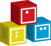 Brajl ABC Blokuje tło Obraz Stock