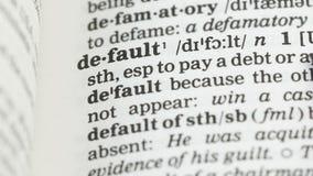 Brak, słowo na słownictwo stronie w angielskim, język obcy, inwestorski ryzyko zdjęcie wideo