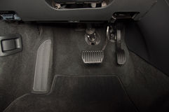 Brake and accelerator pedal Stock Image