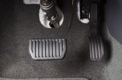 Brake and accelerator pedal. Of automatic transmission car Stock Image