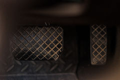 Brake and accelerator pedal. Of automatic transmission car Royalty Free Stock Photography
