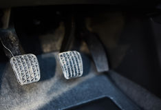 Brake and accelerator pedal of car. The brake and accelerator pedal of car Stock Photography