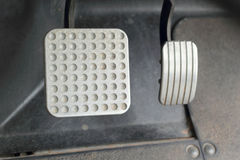 Brake and accelerator pedal for cars. Royalty Free Stock Photography