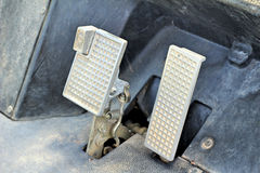 Brake and accelerator pedal for cars. Stock Image