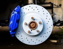 Brake caliper and disk Royalty Free Stock Image