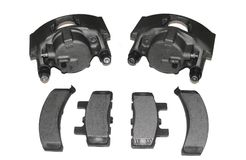 Brake calipers and brake pads Stock Images