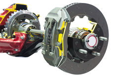 Brake crosscut. Differential shaft with brake crosscut isolated on white background. Clipping path included Royalty Free Stock Photography