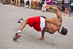 Brake dancer at an open air Stock Image