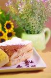 Brake deserts with Gato magic bread cake Royalty Free Stock Images