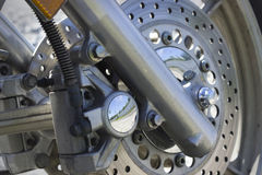 Brake device front-wheel motorcycle Stock Photos