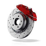Brake disc. Isolated on a white background Royalty Free Stock Photography