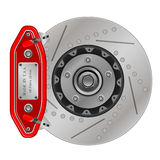 Brake disc with caliper. Vector illustration of brake disc with caliper on a white background Royalty Free Stock Photo