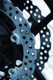 Brake disc detail Royalty Free Stock Photo