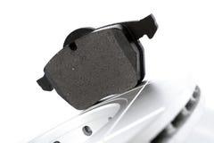 Automotive brake spare parts. Brake parts on white background Royalty Free Stock Photography