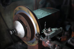 Brake disc repaired by machine Royalty Free Stock Photography