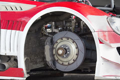 Brake disc of sport car Royalty Free Stock Photos