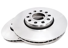 Brake disc. On white background Stock Image