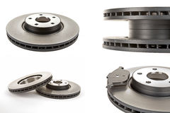 Brake  discs. Four different views of the brake discs Stock Images