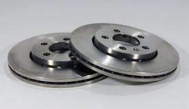 Brake discs. Two new brake discs for the car Stock Photos