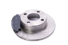 Brake disk with brake pads Royalty Free Stock Image