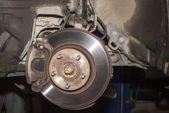 Brake disk of the car stock photos