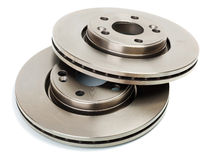 Brake disk for the car. Two brake disk for the car Royalty Free Stock Images