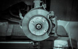 Brake disk and detail of the whee Stock Photography