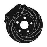 Brake disk single icon in black style for design.Car maintenance station vector symbol stock illustration web. Brake disk single icon in black style for design Stock Images