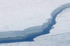 Brake the ice. Broken ice on sunny day stock image