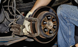 Brake Job Royalty Free Stock Photography